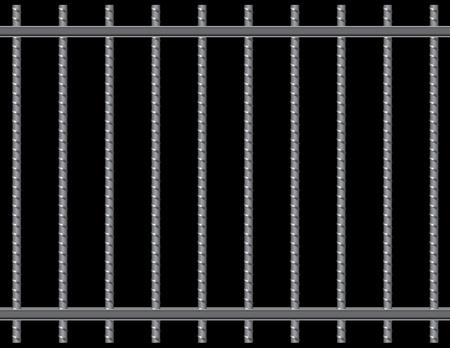 D'armature en acier des tiges de la grille. Vector illustration. Illustration