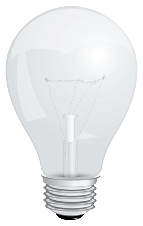 glower: Transparent with a filament lamp. Vector illustration.