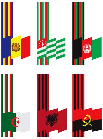 polity: Symbols of statehood colors and flags. Vector illustration.