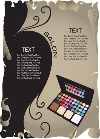 maquillage: The concept of background information about the beauty salon. Vector illustration.