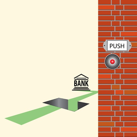 Banking issues, creativity in the financial banking operation. Vector illustration. Vectores