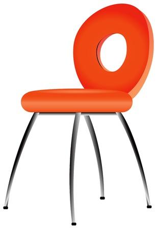 leather chair: Sedia in pelle moderna per l'ufficio e casa.