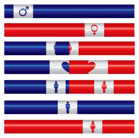 Indicators measuring the relationship between men and women or the population. Vector illustration.