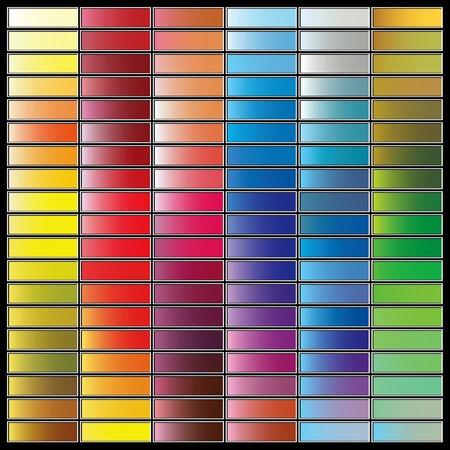 Het kleurenpalet van verschillende tinten. Vector illustratie.