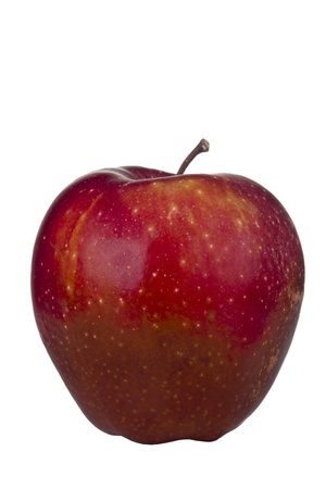 Decaying Red Delicious apple isolated on a white background.