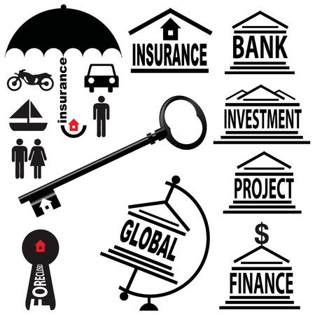 Kreative an den Finanzmärkten Themen Standard-Bild - 13164252