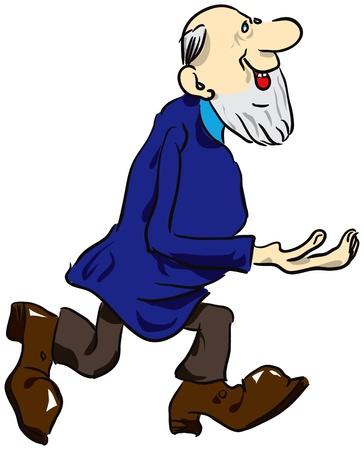 ひげを持つ老人