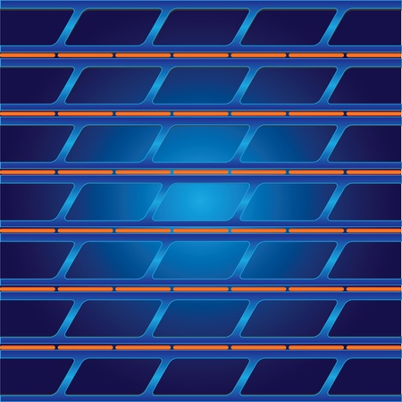 Abstract background in blue and orange colors