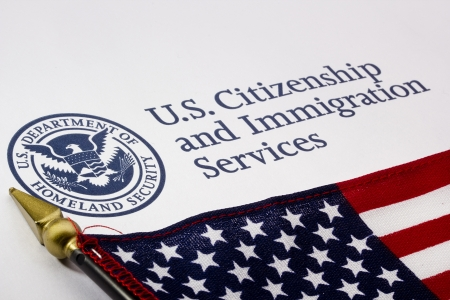 naturalization: Photograph of a U.S. Department of Homeland Security logo.