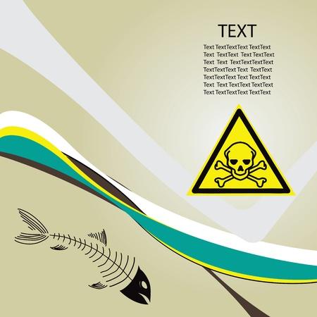 背景有毒な危険有毒な危険の象徴。