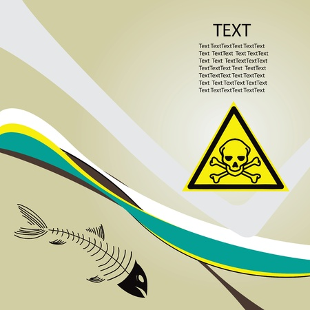 Background toxic danger with a toxic symbol of danger. Stock Vector - 13408623