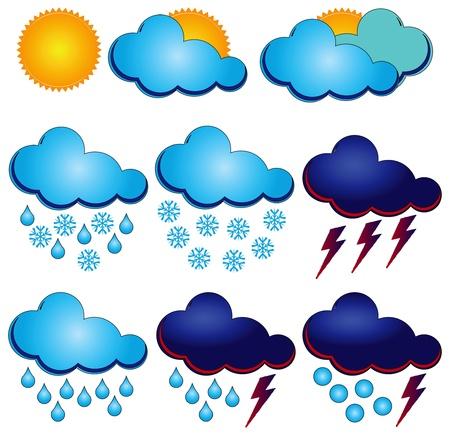 granizo: S�mbolos sin�pticos para diferentes condiciones clim�ticas.