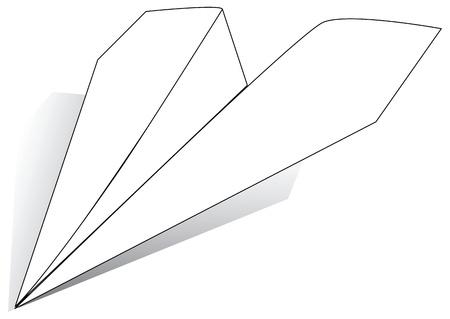 ホワイト ペーパーのシートの平面。ベクトルの図。