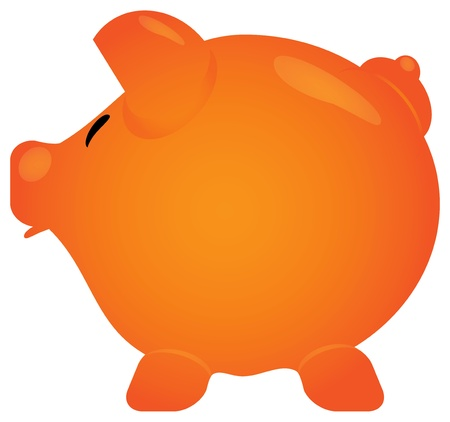 Piggy Bank in the form of a pig with his mouth open. Vector illustration. Vector
