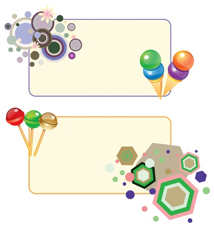 The abstract card for congratulations on the elements of a meal. Vector illustration. Stock Vector - 13552248