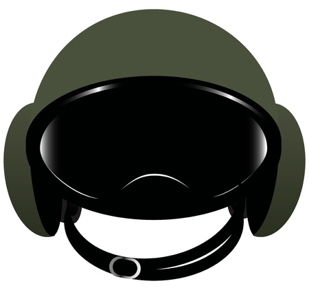 Accessory motorcycle - helmet with goggles. Vector illustration.