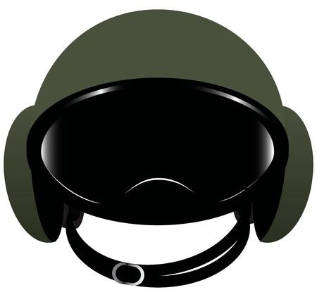 motorradhelm: Zubeh�r Motorrad - Helm mit Schutzbrille. Vektor-Illustration.