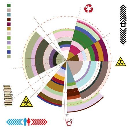 The diagram on the abstract theme. Vector illustration.