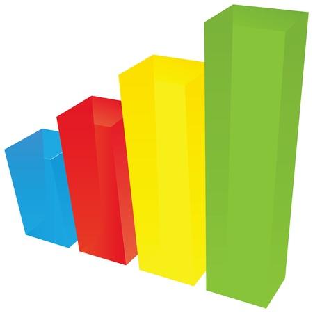 Color diagrams of rectangular translucent objects. Иллюстрация