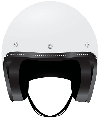 headgear: A helmet protects your head from injury. Vector illustration. Illustration