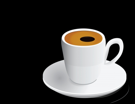 White coffee cup with a cappuccino