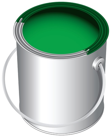 The green paint in the pot, the standard package