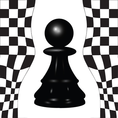 Chess piece - a black pawn. Stock Vector - 13799394