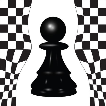 Chess piece - a black pawn.