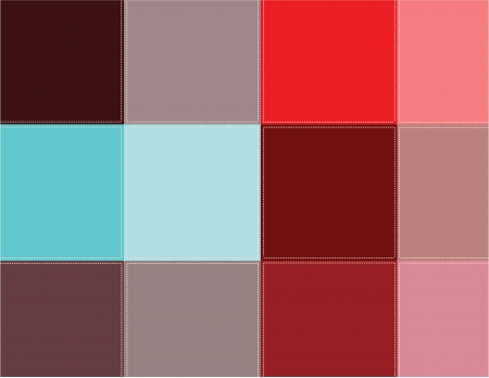 scenical: Decorative background.Colored squares are stitched with thread. Illustration