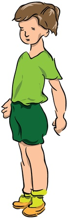 teeny: Teen Boy T-shirt and shorts.