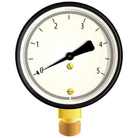 Indicator to measure the pressure. illustration.