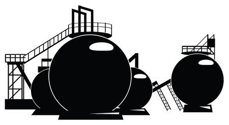 reviser: La transformation industrielle d'un r�servoir de stockage. illustration.