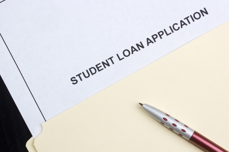 Directly above photograph of a student loan application Stock Photo - 13984856