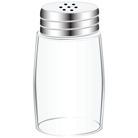 An empty salt shaker with a screw cap.