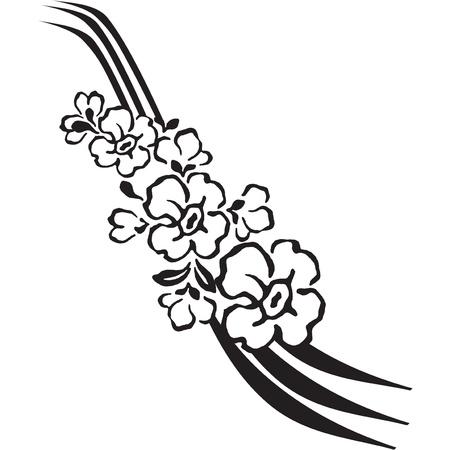 문신의 스타일에 꽃 장식입니다. 일러스트