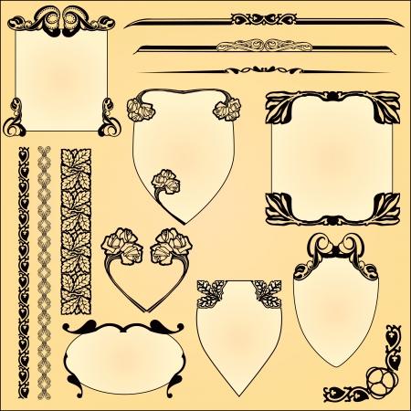 ligature: Vintage ornaments for the decoration work.