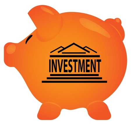 Pink piggy bank in editable vector format  Stock Vector - 14120498