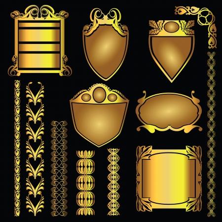ligature: Vintage patterns for graphic design. Vector illustration.