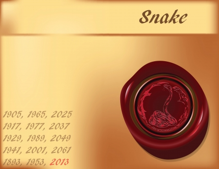 Symbol, the snake on the eastern calendar. Vector illustration.