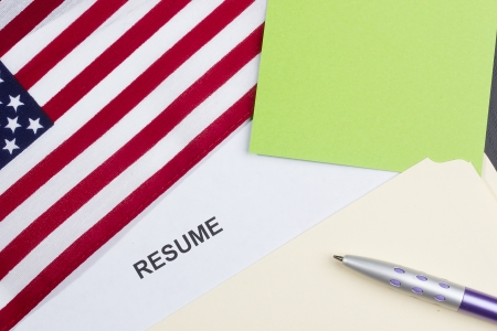 Directly above photograph of a resume title page. Stock Photo - 14120552