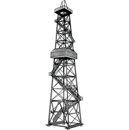 Rig for exploration and drilling wells for oil production.
