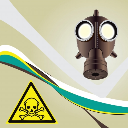 danger: Background toxic danger with a toxic symbol of danger.