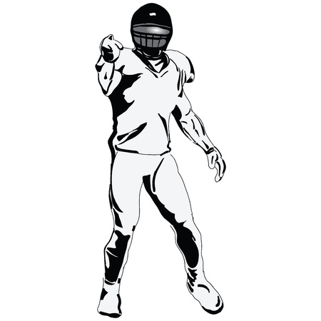 The figure of the player in American Football. Vector illustration. Stock Vector - 14243849
