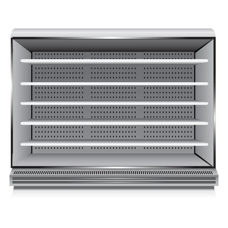Moderno refrigerador comercial para las organizaciones de comercio. Ilustración del vector. Ilustración de vector