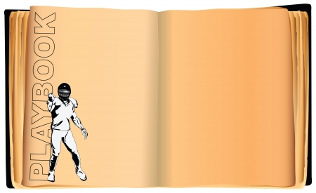 Playbook for a American football player.