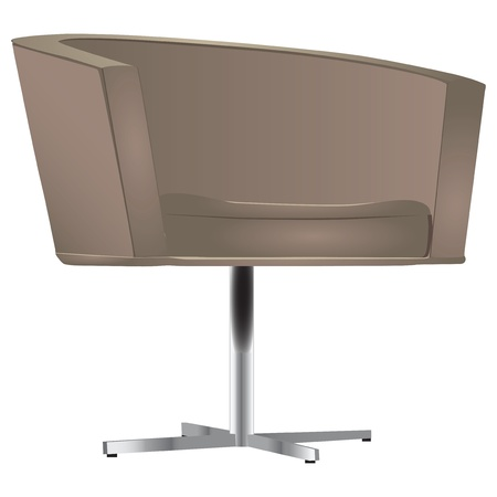 Contemporary office chair with metal legs. Иллюстрация