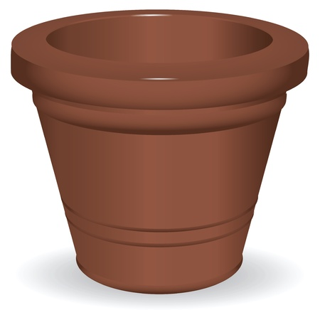 Ceramic pot for growing flowers. Stock Vector - 14456242