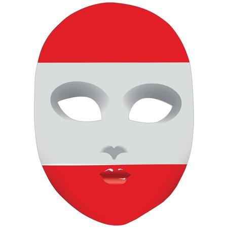 オーストリアの州のシンボルで古典的なマスクです。  イラスト・ベクター素材