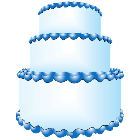 tiers: Wedding cake in three tiers. Illustration