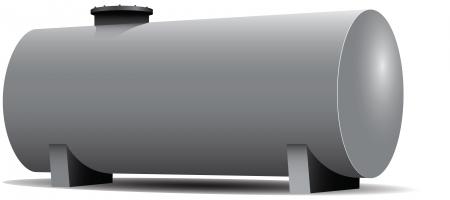 可燃性材料の貯蔵タンクの鉄鋼業  イラスト・ベクター素材